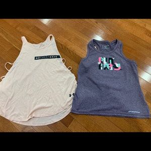 Brooks and Under Armour workout tops